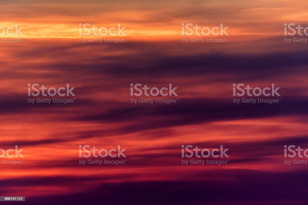 Dramatic sunset and sunrise sky with pink clouds - Royalty-free Atmosphere Stock Photo