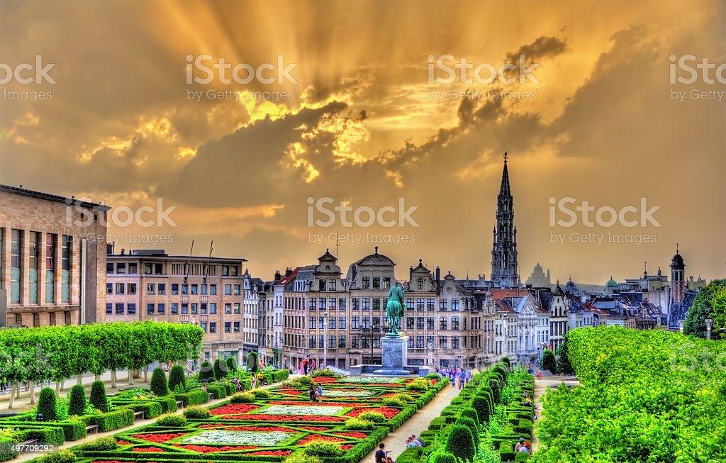 Coucher de soleil spectaculaire sur Bruxelles, Belgique - Photo
