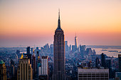 Iconic Manhattan skyline , New York City