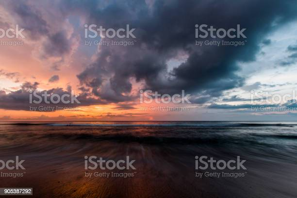 Photo of Dramatic Sunset over the sea