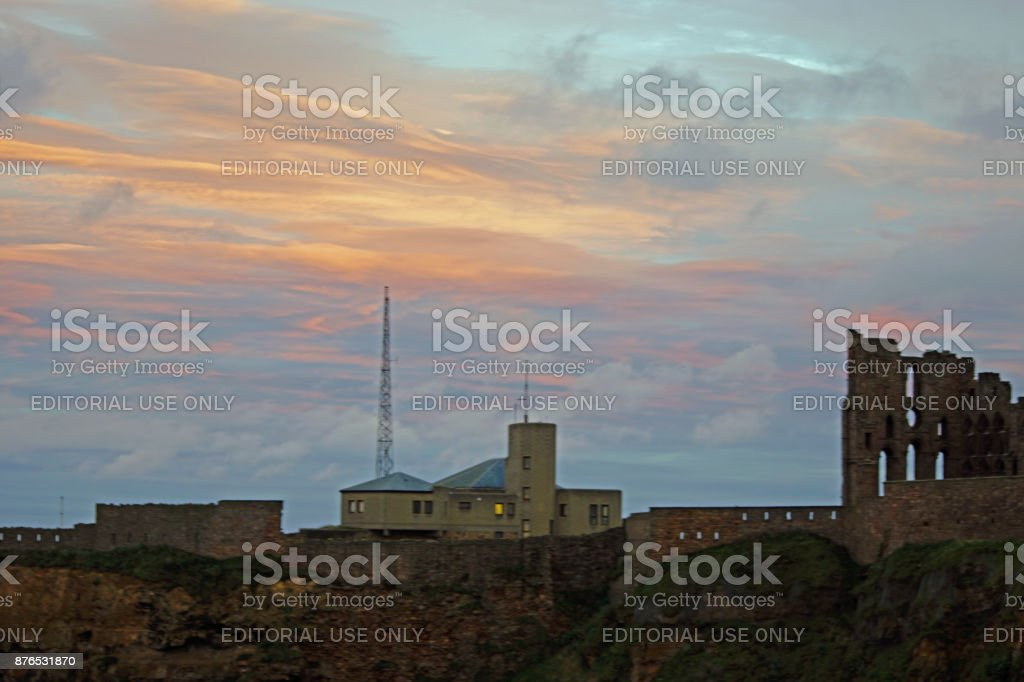 Dramatic sunset stock photo