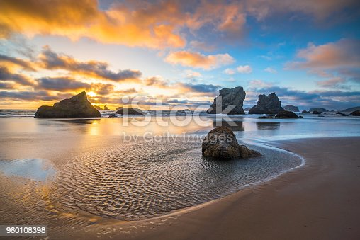 Beach, Coastal Feature, Dramatic Sky, Dusk, Horizon Over Land