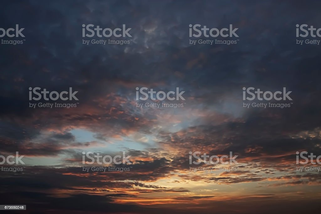 Dramatic sunset sky and cloud. royalty-free stock photo
