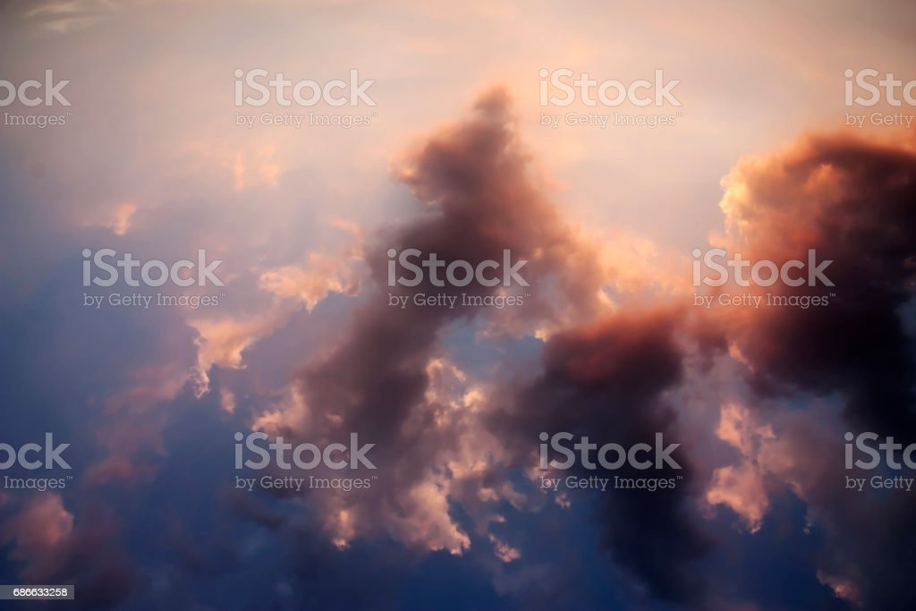 Dramatic Sunset Sky and Clouds. royalty-free stock photo