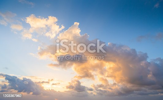 dramatic sunset sky nature background clouds for design concept and isolated text material