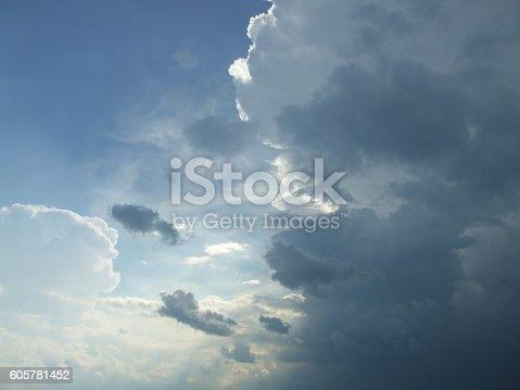 istock Dramatic sunset sky 605781452
