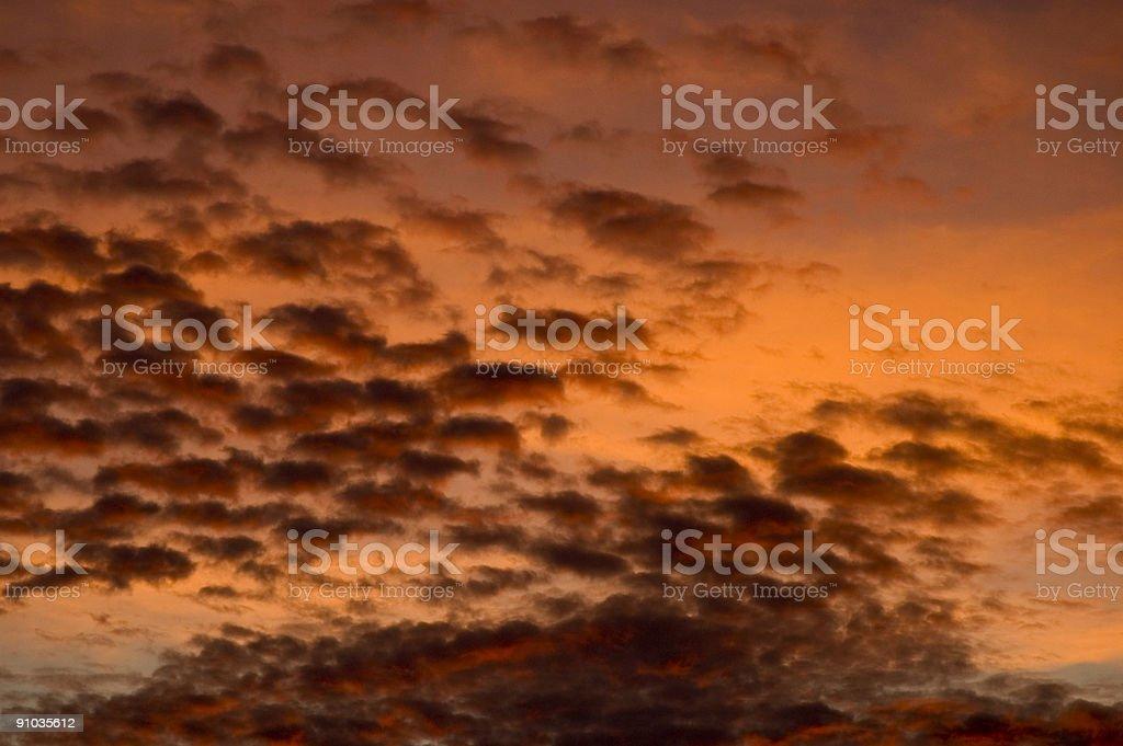 Dramatic Sunset Sky royalty-free stock photo