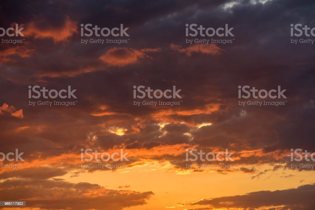 Dramatic Sunset sky zbiór zdjęć royalty-free
