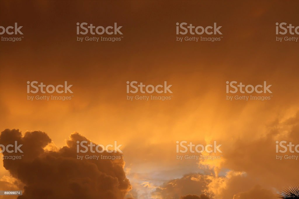 Dramatic Sunset - Sky with heavenly rays royalty-free stock photo