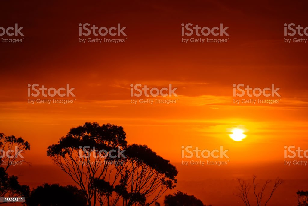 Dramatic susnet view stock photo