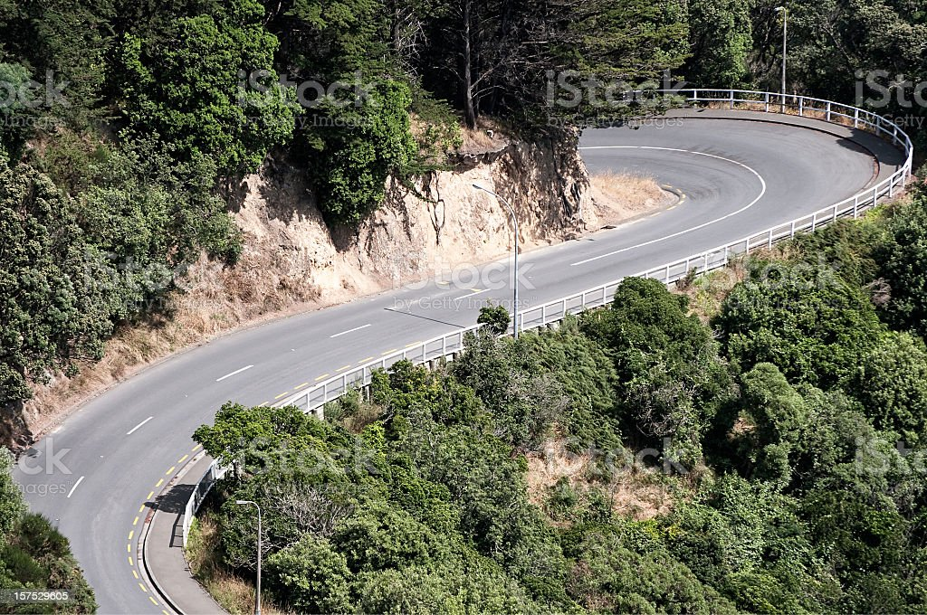 Dramatic Switchback Road stock photo