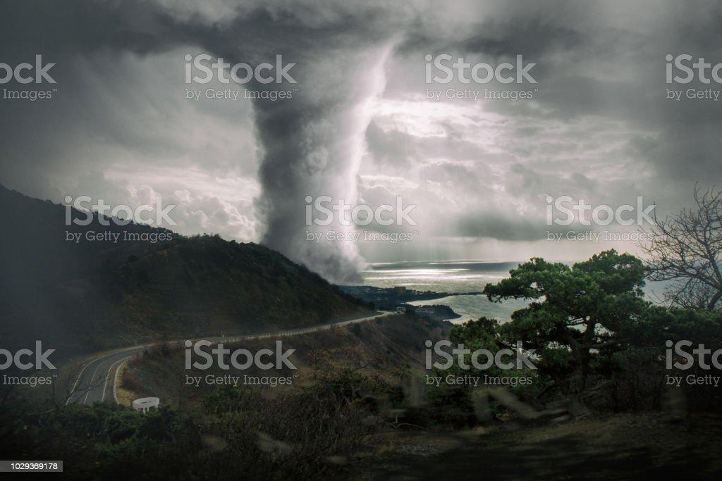 Dramatic Tornado View stock photo