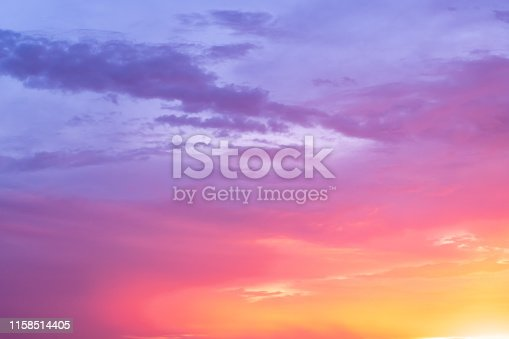 Colourful Dramatic Twilight Cloudscape Sunset / Sunrise