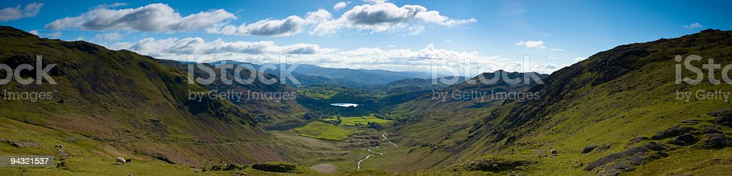 Dramatic valley view stock photo