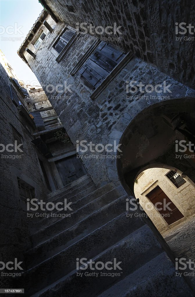 Dramatic view of an old building royalty-free stock photo