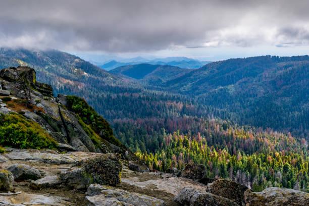 Dramatic View of Buena Vista Peak, Kings Canyon, CA stock photo