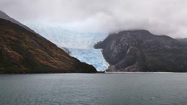 Dramatic view of Chilean fjords and Italia Glacier, Chile. – Foto