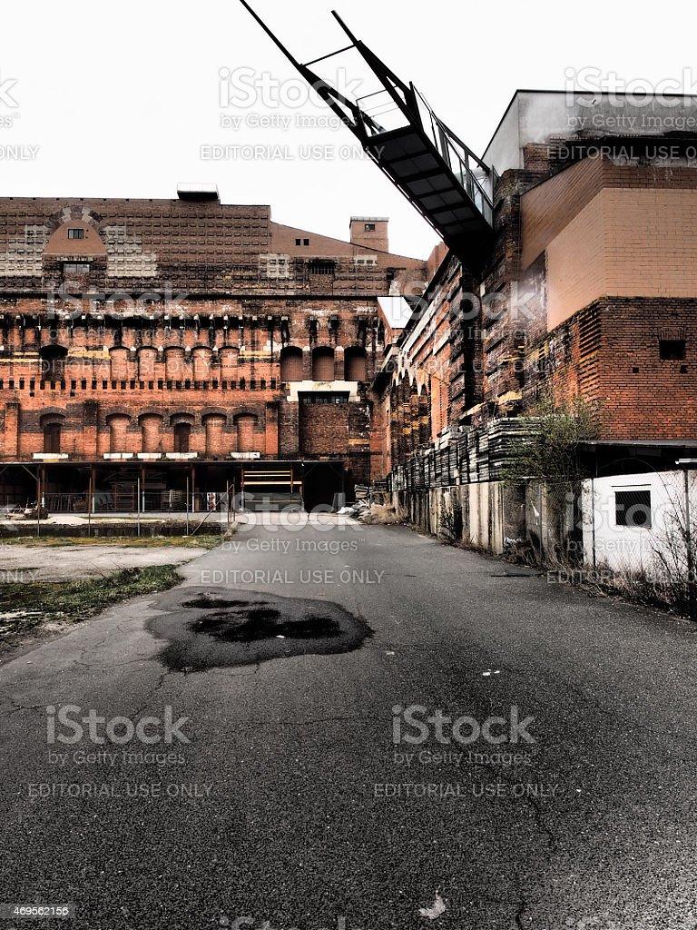 Dramatic view of fomer Nazi congress building stock photo