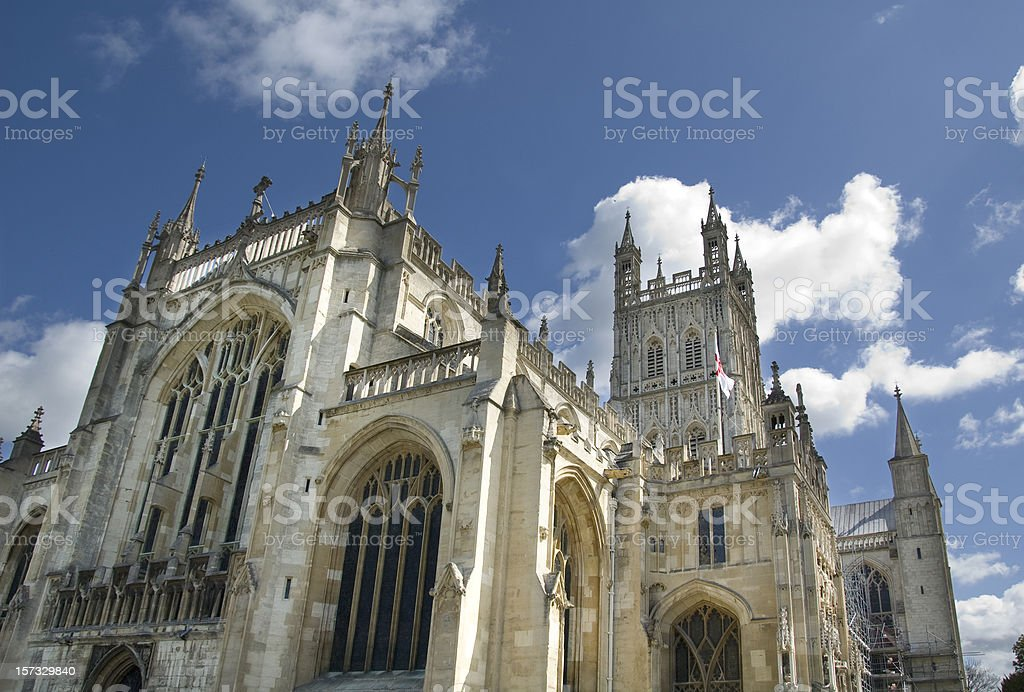 Dramatic View Of Gloucester Cathedral In The UK royalty-free stock photo