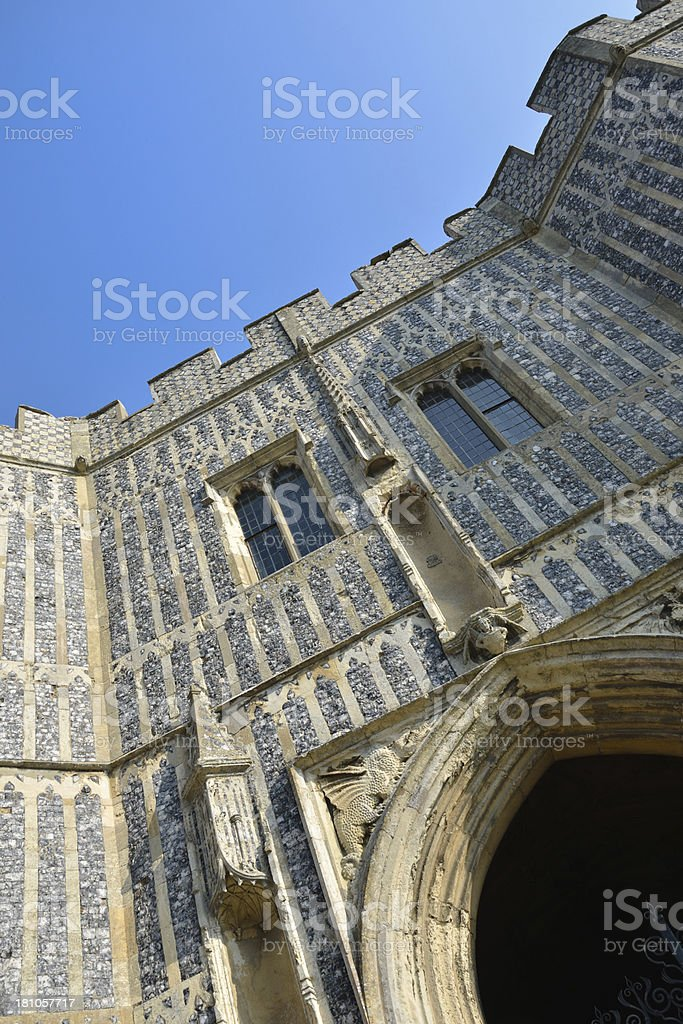 Dramatic view of norman entrance royalty-free stock photo