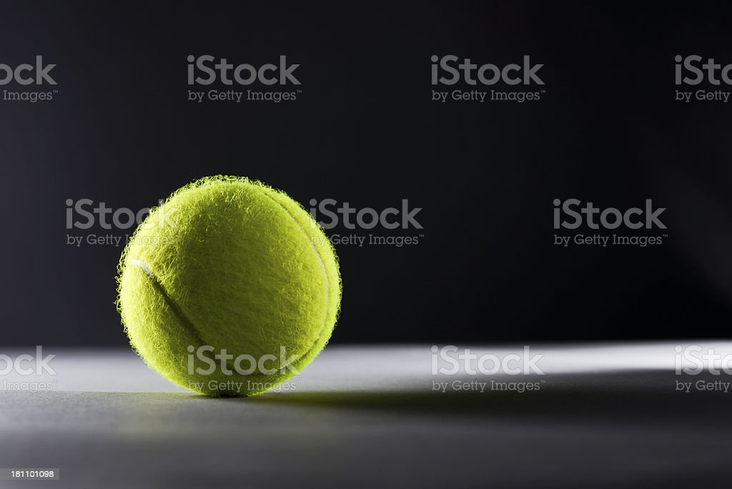 Dramatic view of Tennis ball royalty-free stock photo