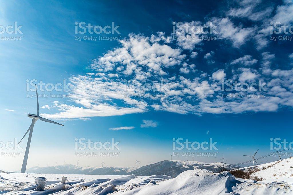 Dramatic Winter Scape stock photo