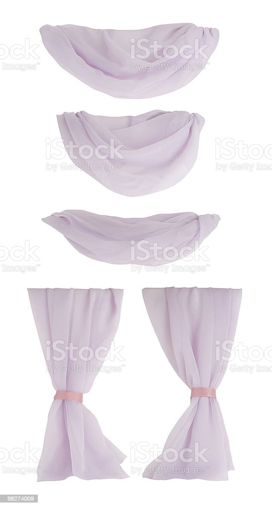 Drapes/Curtain Components, Isolated royalty-free stock photo