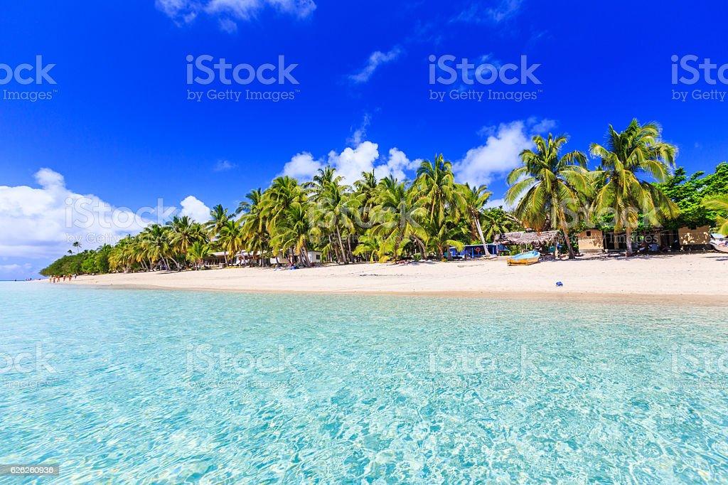 Dravuni Island, Fiji. stock photo