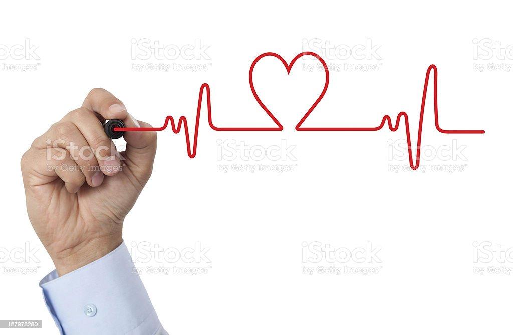 Fotografía de Dibujar Un Diagrama De Corazón y más banco de imágenes ...