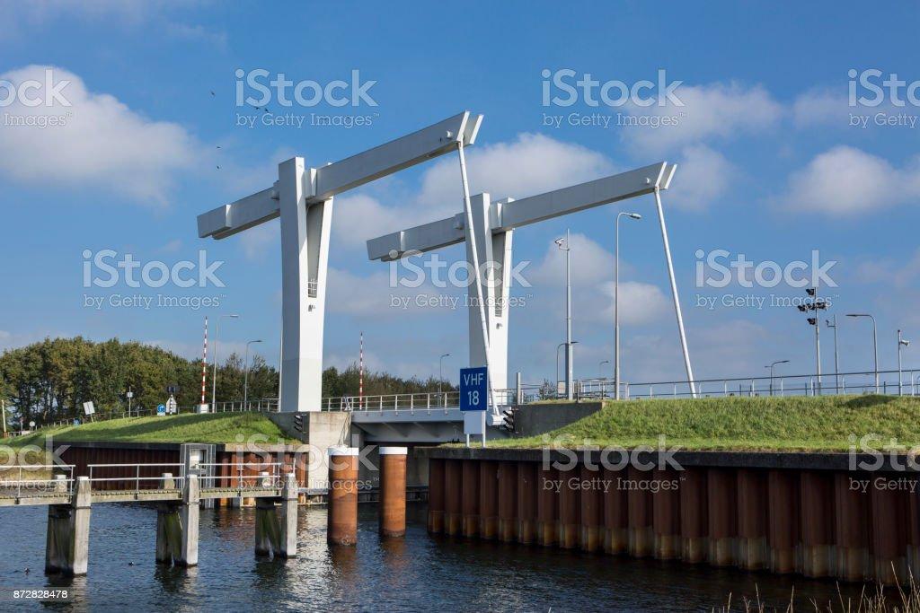 Drawbridge, Eastern Scheldt stock photo