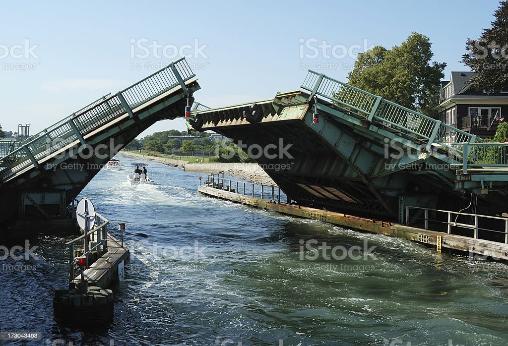 Drawbridge stock photo
