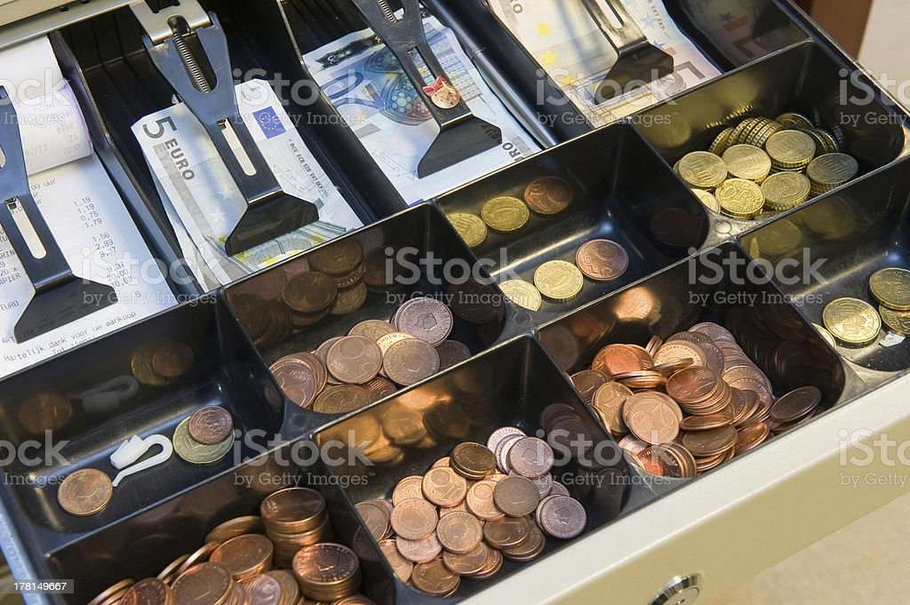 Drawer with money royalty-free stock photo