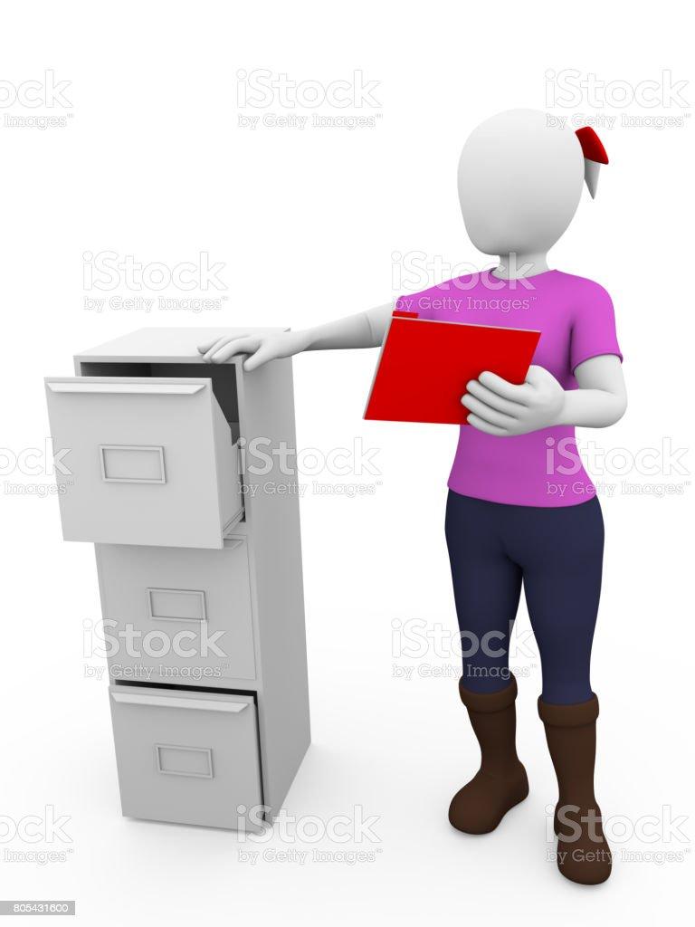 drawer woman stock photo