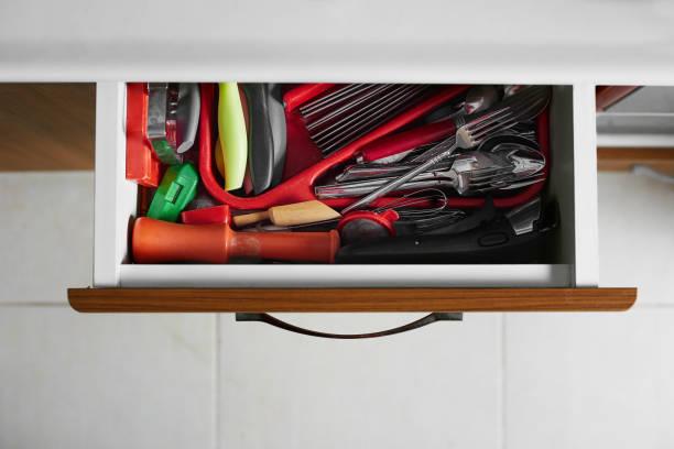 Schubladen, Löffel und Gabeln – Foto