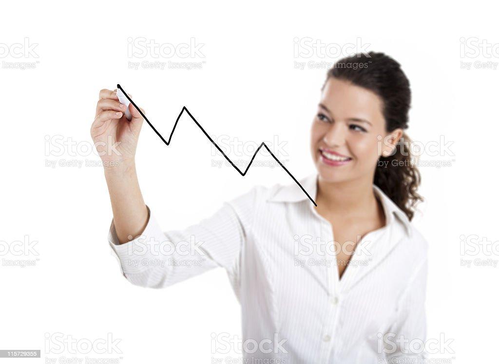 Drawing a chart royalty-free stock photo