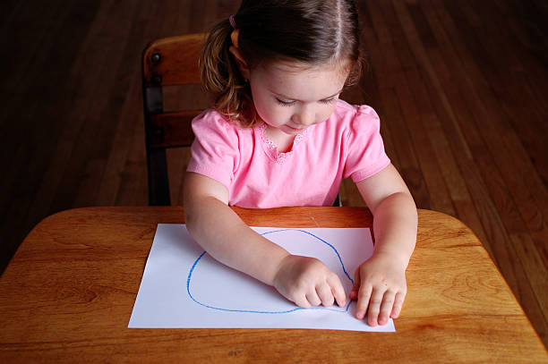 Drawing a Circle stock photo