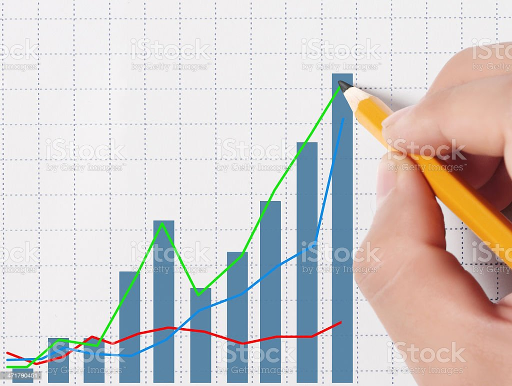 ? drawing a graph royalty-free stock photo