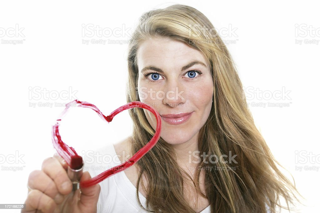 Drawing a heart royalty-free stock photo
