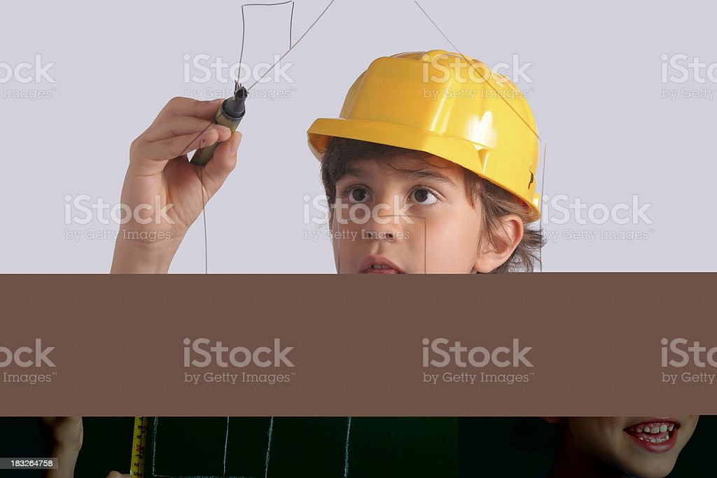 Drawing a House royalty-free stock photo