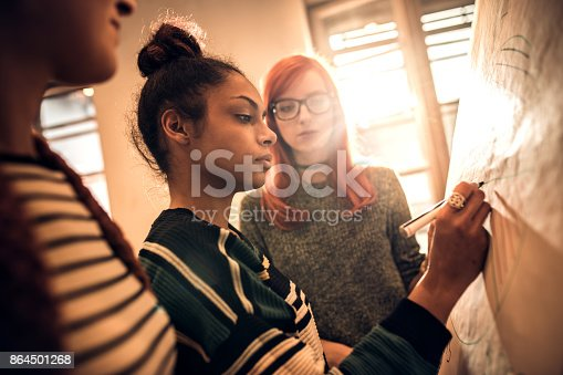 497812268 istock photo Drawing a new business plan on whiteboard! 864501268