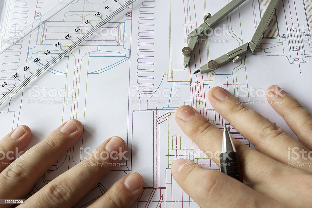 Drawing and Analysing royalty-free stock photo