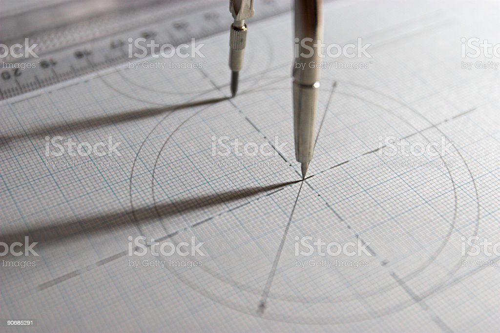 Drawing and construction 3 royalty-free stock photo