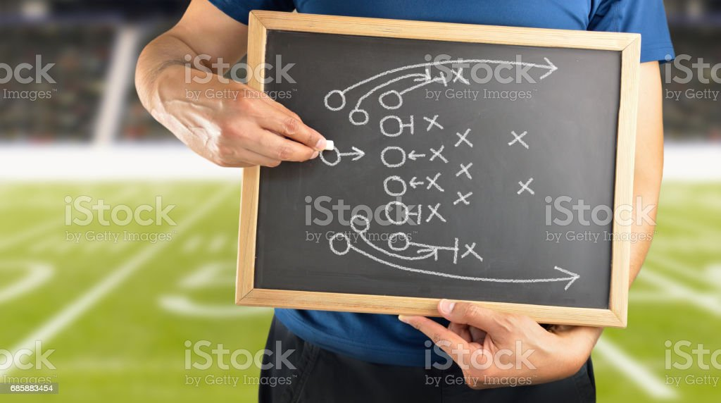 Drawing Attack Tactics stock photo
