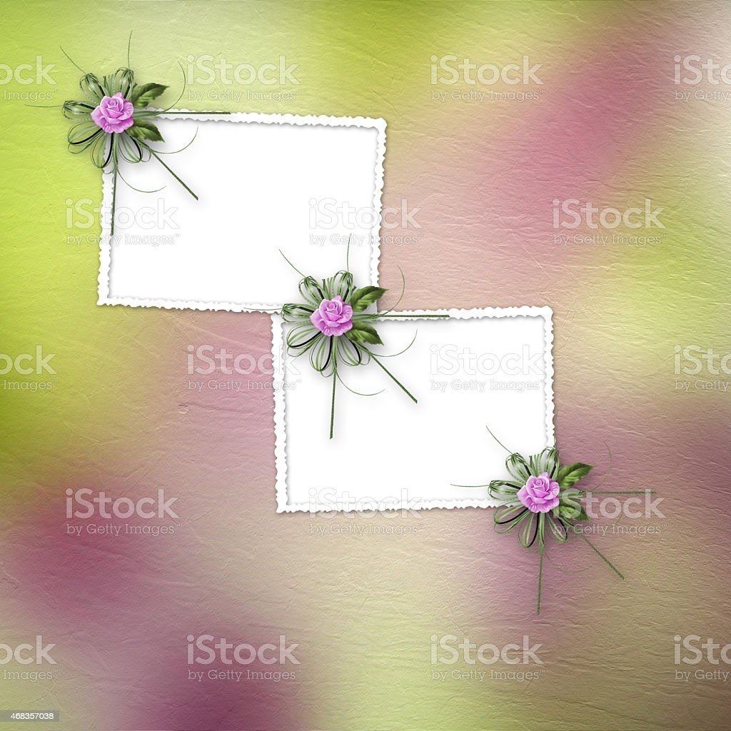 Drawing beautiful bouquets of roses on pastel background royalty-free stock photo