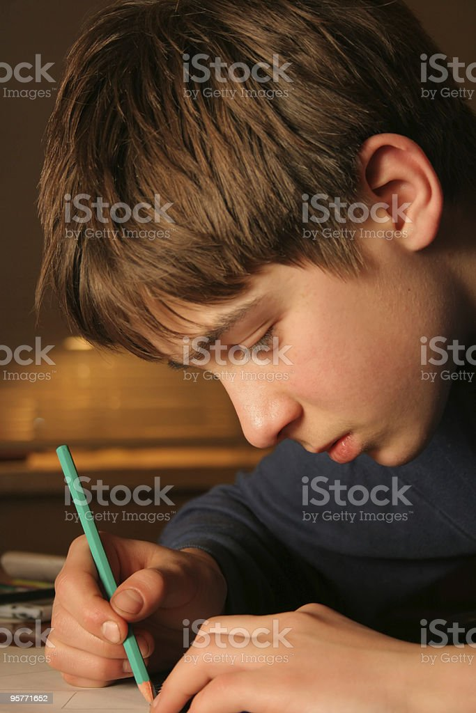 drawing boy royalty-free stock photo