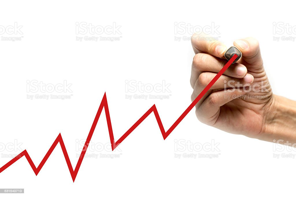 drawing business chart stock photo