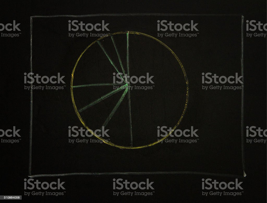 Drawing business concept idea on black board background. stock photo
