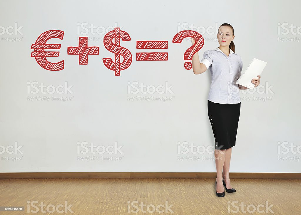 drawing business formula royalty-free stock photo