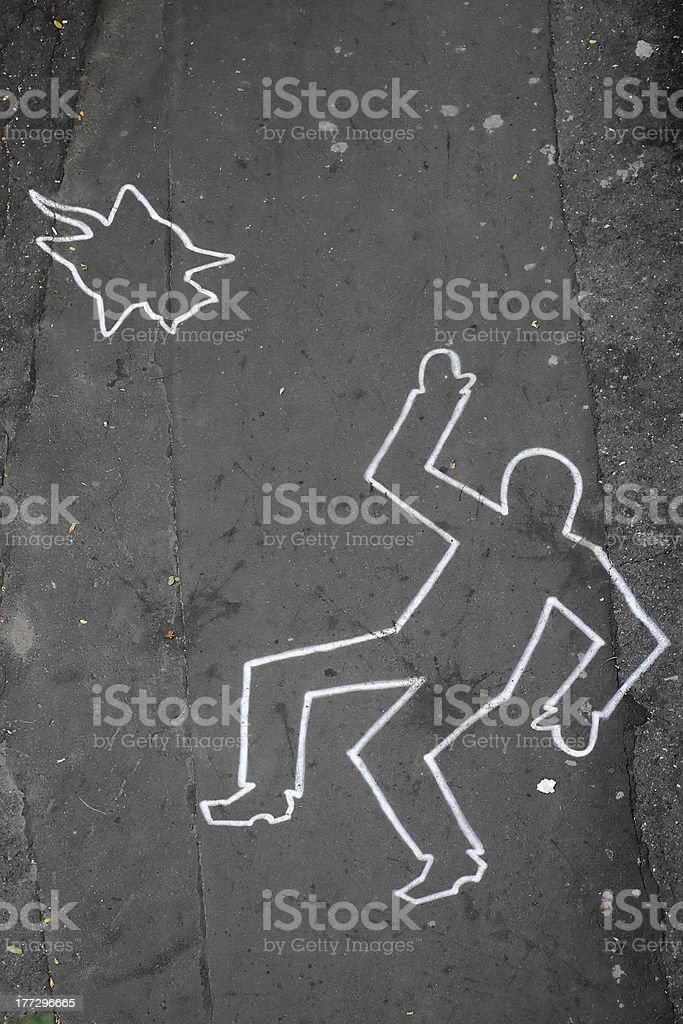 Drawing by chalk stock photo