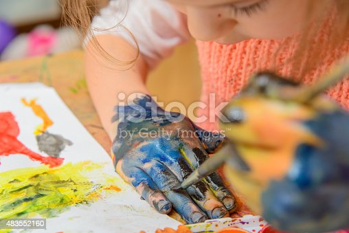 istock drawing by paints 483552160